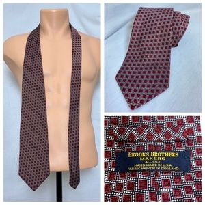 VTG Brooks Brothers Makers All Silk Necktie Red